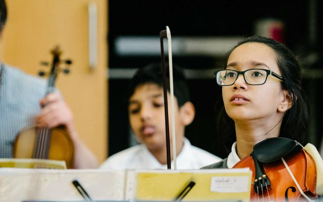 In Harmony String Orchestra at Low Road Primary School © Tom Arber
