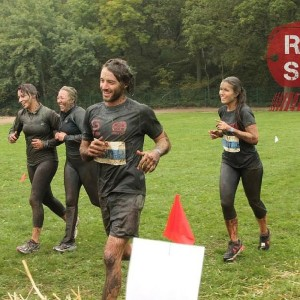 Image of our head of fundraising taking part in Rock Solid running race