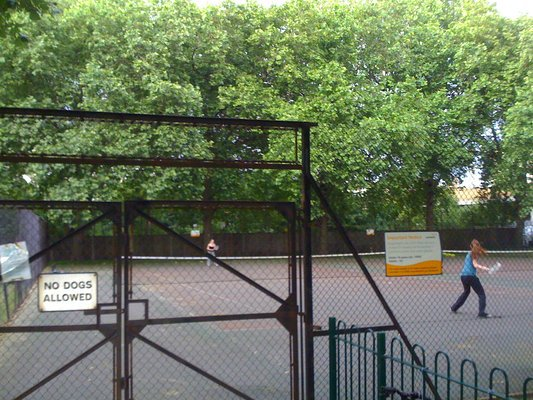 The Archbishops Park tennis courts aren't in great condition...