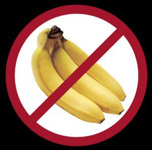 No bananas should be eaten during sport as they require too much blood to digest