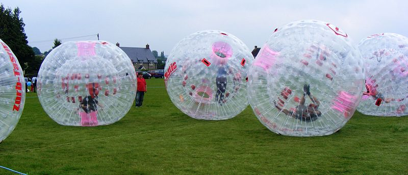 Zorbing! Image by rodw under Creative Commons licence.