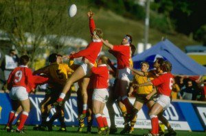 wales-and-australia-battle-for-line-out-ball-during-the-1987-world-cup-397853949