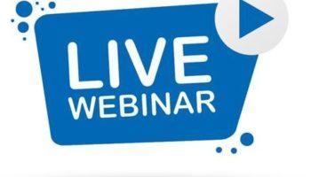 Live webinar button icon emblem label vector 258451 16dc39180b0e780d