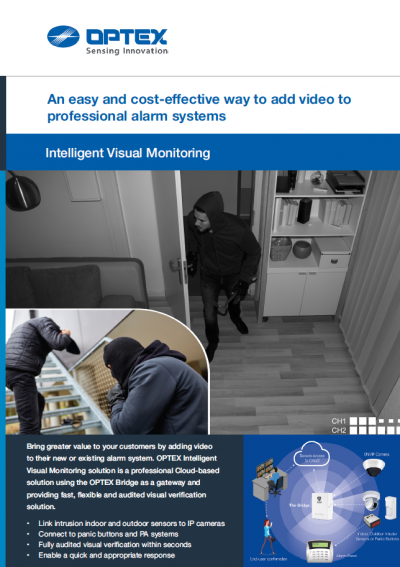 Optex Intelligent Visual Monitoring Installer Brochure Cover