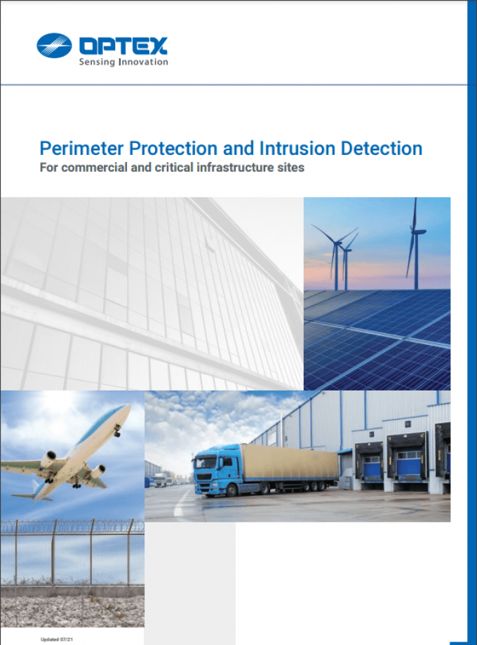 Optex Perimeter protection and intrusion detection Catalogue 2021 EN