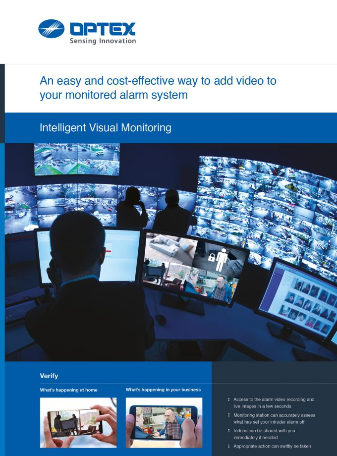 Optex intelligent visual monitoring end user brochure cover