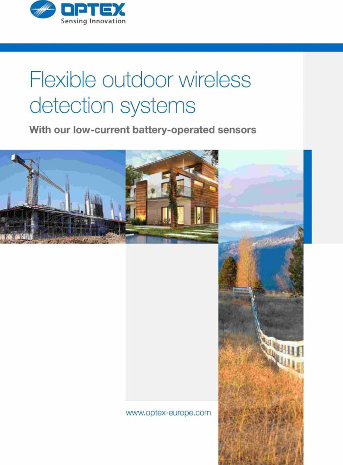 Optex outdoor wireless catalogue en cover