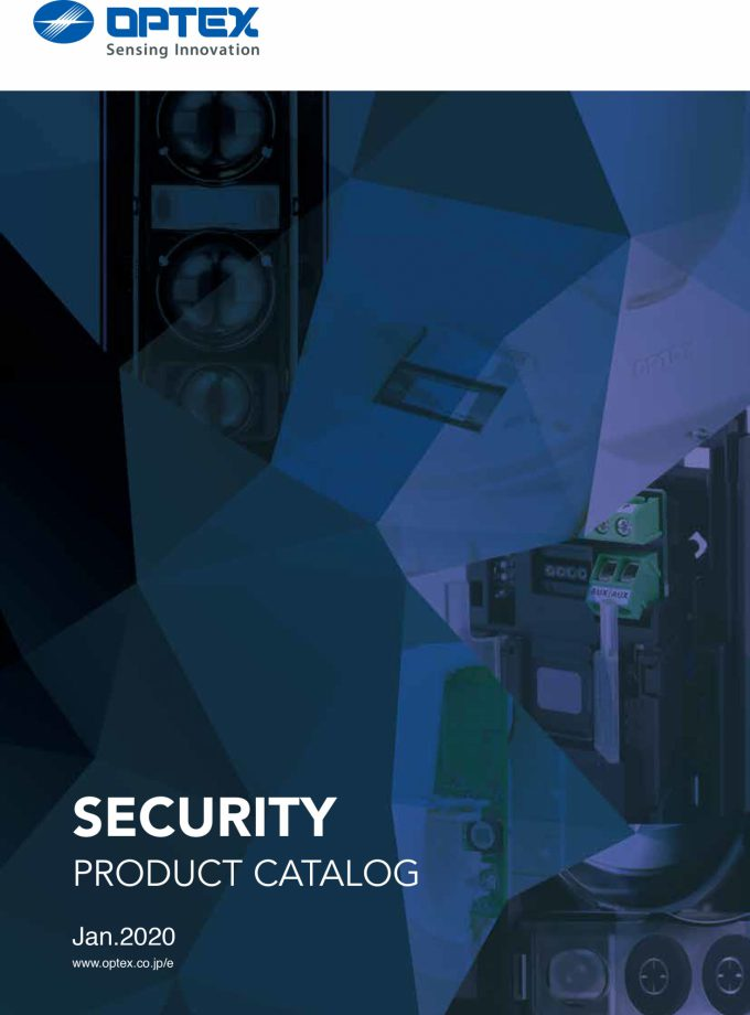 Optex security product catalogue 2020 cover