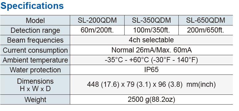 Optex Sl 200Qdm Specifications