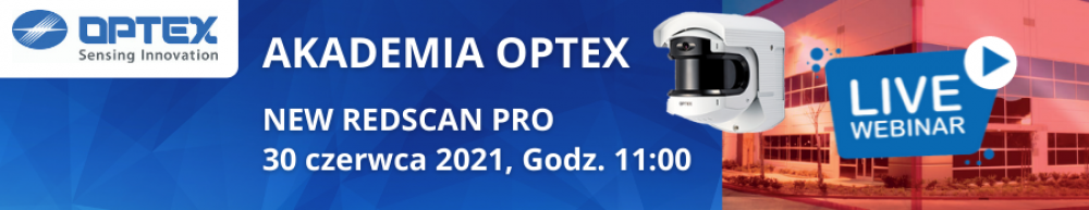 Akademia OPTEX WEBINAR Redscan PRO