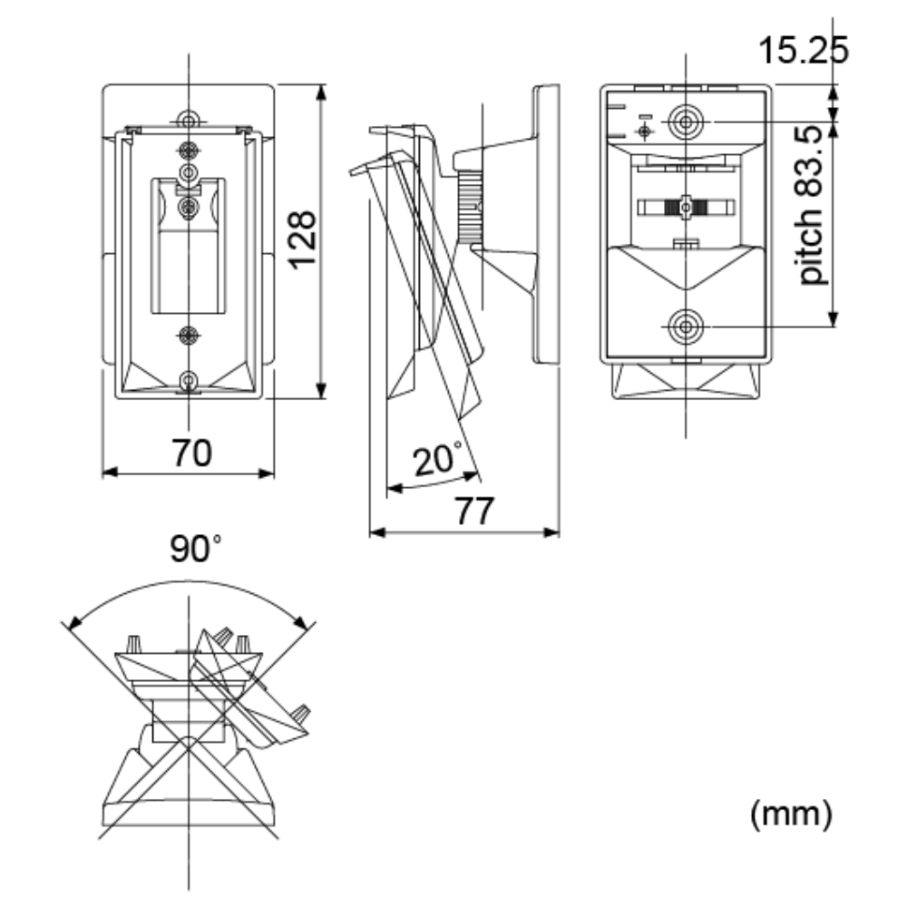 Optex ca 1w dimensions