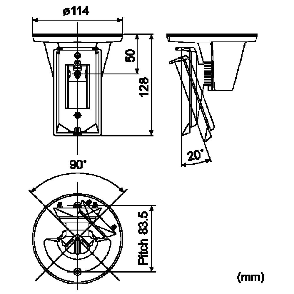 Optex ca 2c dimensions