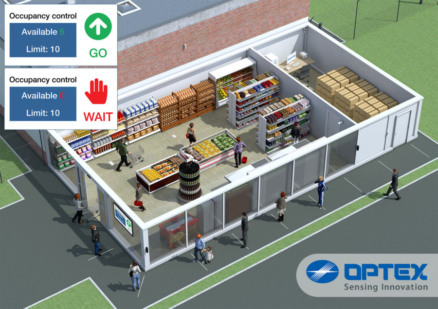 Optex social distancing store