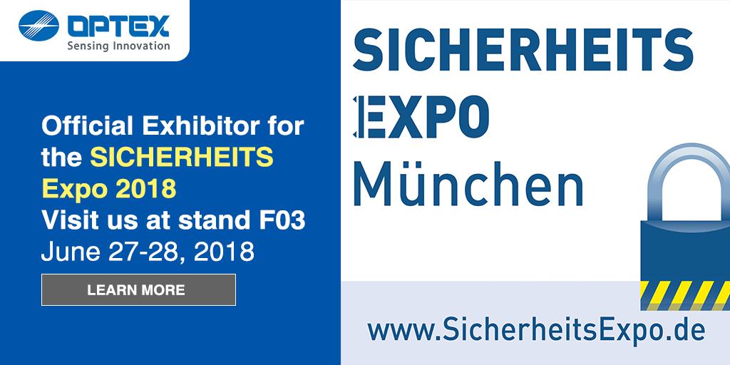 SICHERHEITS EXPO | Optex Europe