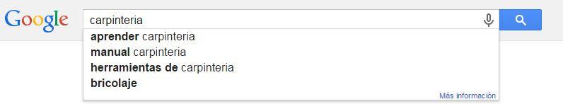 Búsqueda normal en Google