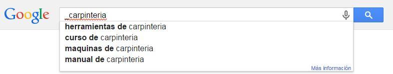 Búsqueda en Google con guion bajo