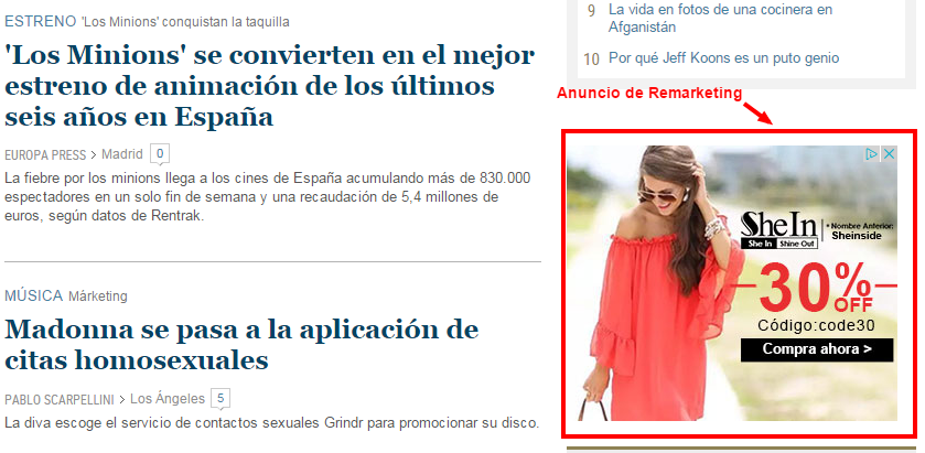 Anuncio Remarketing