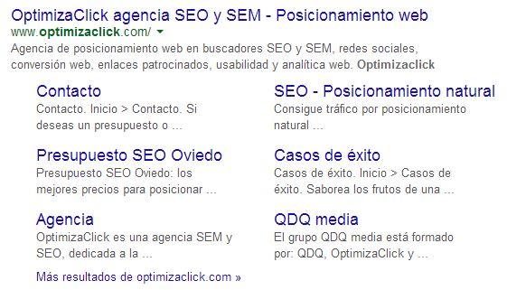 Las metaetiquetas se muestran en los resultados de búsqueda en Google.