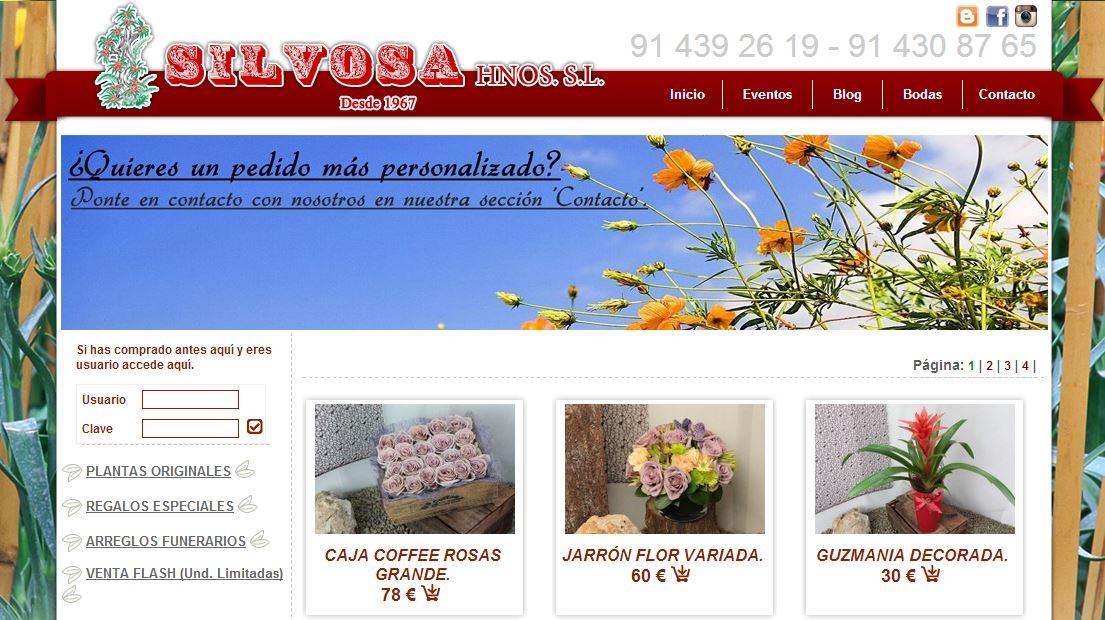 Web de Silvosa Hermanos.