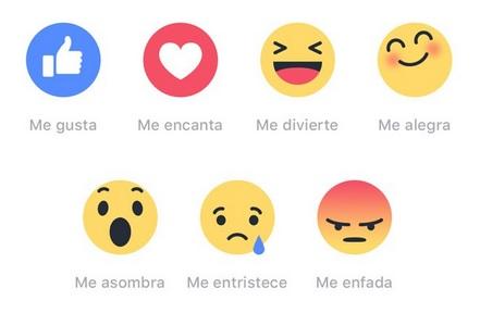 nuevo icono reacciones faceboo