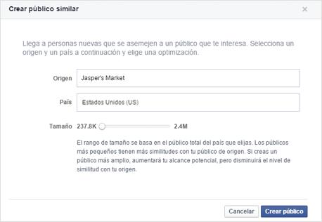 publicos similares facebook