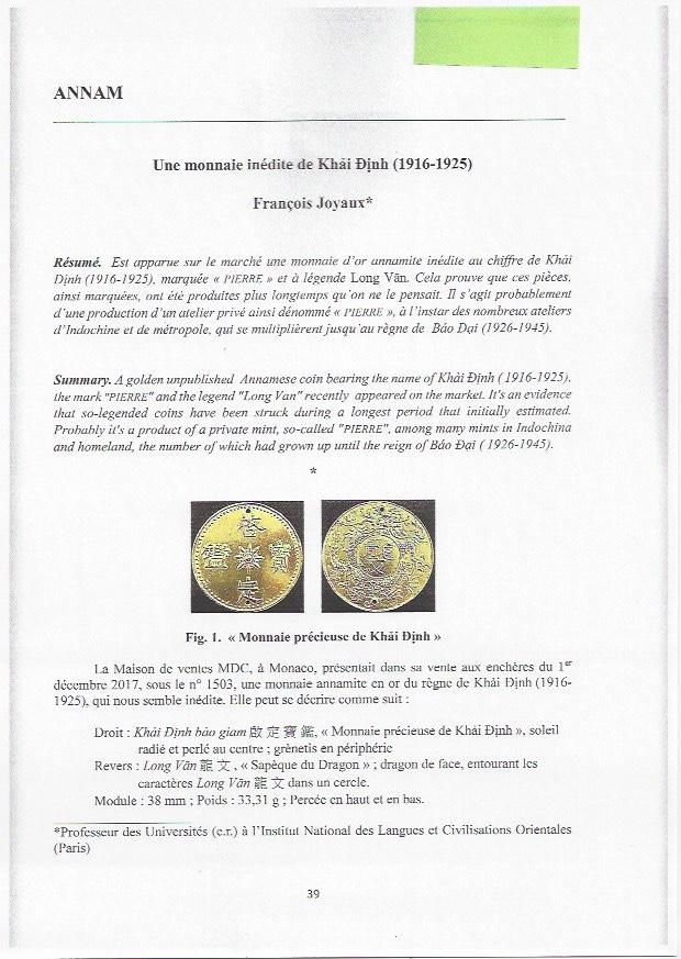 Revue de la Société de Numismatique Asiatique n°24 – France – Décembre 2017