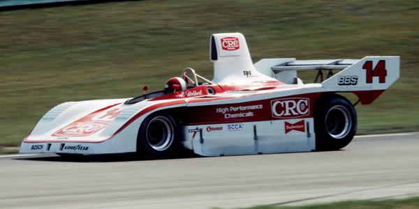 Al Holbert in his CRC-2 at Road America in 1981.  Copyright Glenn Snyder 2009.  Used with permission.