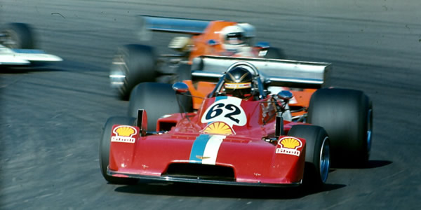 Bruce Allison at Mallory Park in 1977 in the F5000 Chevron B37, the only Formula 5000 car that raced in the UK, US and Australian series.  Copyright Alan Cox 2007.  Used with permission.