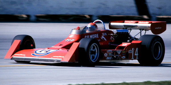 AJ Foyt in the Coyote at Milwaukee in 1975.  Copyright Glenn Snyder 2009.  Used with permission.