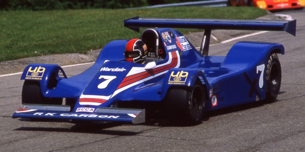 It wasn't pretty but it was effective.  Jim Crawford in the converted F1 Ensign N180B at Mosport Park in 1983.  Copyright Terry Capps 2014.  Used with permission.
