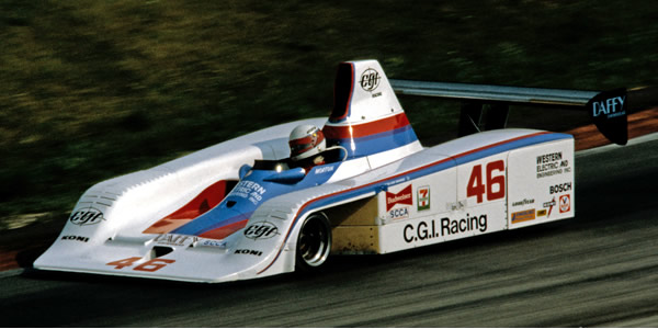 John Morton in his Frissbee at Road America in 1982.  Copyright Glenn Snyder 2009.  Used with permission.