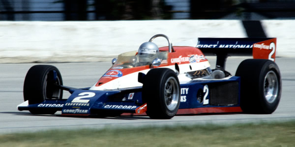 Al Unser in the Triple Crown-winning Lola T500 at Milwaukee in 1978.  Copyright Glenn Snyder 2009.  Used with permission.