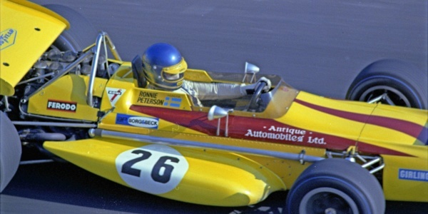 Ronnie Peterson in the Antique Automobiles March 701 at the 1970 Canadian GP.  Copyright Norm MacLeod 2015.  Used with permission.