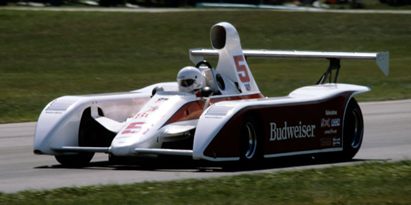 Al Unser in the March 817, the quickest car of 1981, see here at Road America.  Copyright Glenn Snyder 2009.  Used with permission.