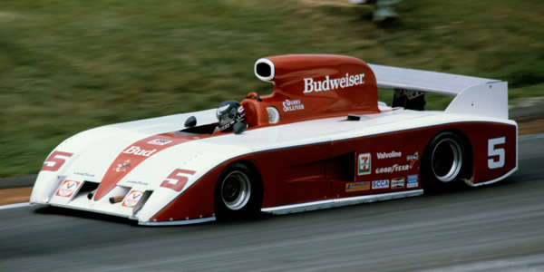 Danny Sullivan in the gigantic March 827 at Road America in 1982.  Copyright Glenn Snyder 2009.  Used with permission.
