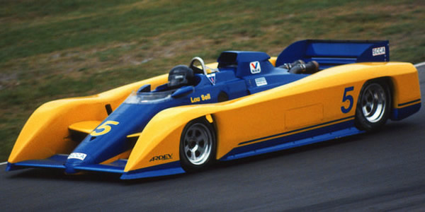 Lou Sell in the ex-CART March 85C at Mosport Park in 1986.  Copyright Terry Capps 2013.  Used with permission.