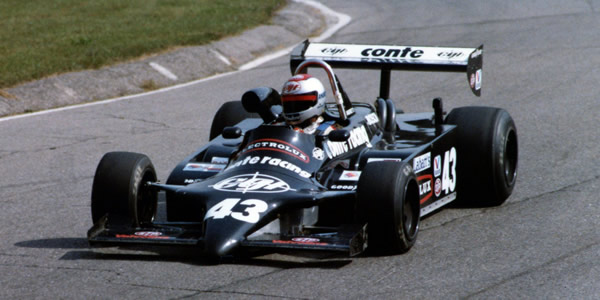 1983 champion Michael Andretti in his Conte Racing/Electrolux Ralt RT4/83 at Mosport Park in September 1983.  Copyright Terry Capps 2013.  Used with permission.