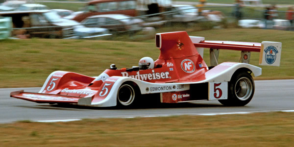 Keke Rosberg in the Spyder NF11 at Road America in 1979.  Copyright Glenn Snyder 2009.  Used with permission.