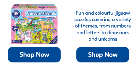 Fun and colourful jigsaws for 2-5 years, covering a wide range of topics from dinosaurs to unicorns