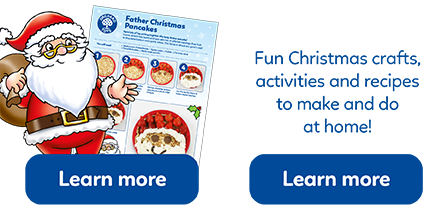 A range of Christmas-themed activity sheets, from simple craft ideas to fun recipes!