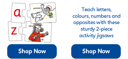 Activity jigsaws help to teach numbers, letters, opposites and colours, plus much more!