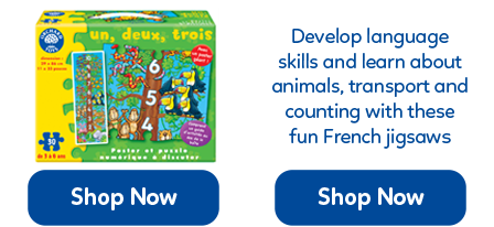 A range of French jigsaw puzzles from Orchard Toys.