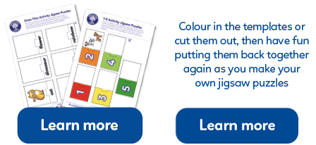 A collection of Make Your Own jigsaw Puzzles activity sheets.