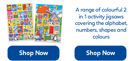 A selection of colourful 2 in 1 activity jigsaws. Make the jigsaws then use them together!
