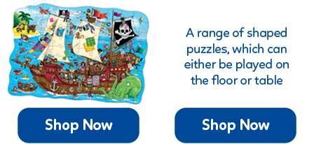 Shaped floor puzzles offer a more interesting and sometimes more challenging approach to jigsaws.