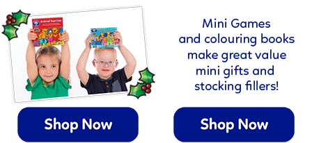 These fun mini games and colouring books make the perfect under £5 stocking fillers for children!