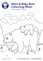 Bear Colouring Sheet