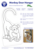 Cheeky Monkeys Doorhanger