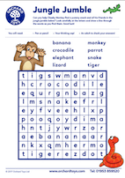 Cheeky Monkeys Wordsearch
