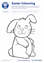 Easter Big Bunny Colouring Sheet